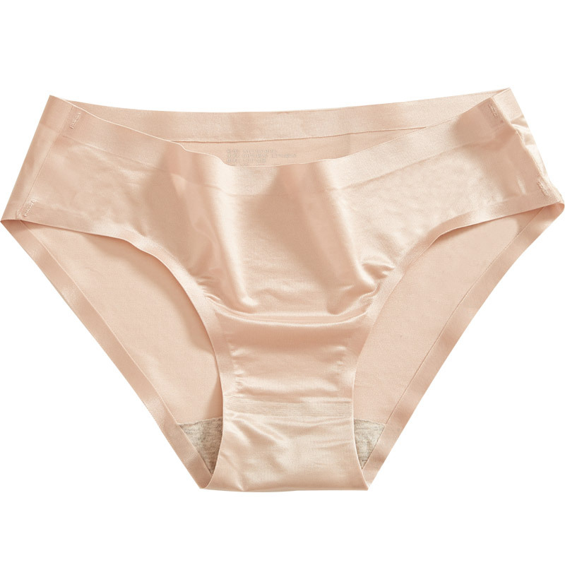 New Female   Panties   ultra-thin ice silk no trace mask underwear women's breathable quick-drying middle waist women's briefs