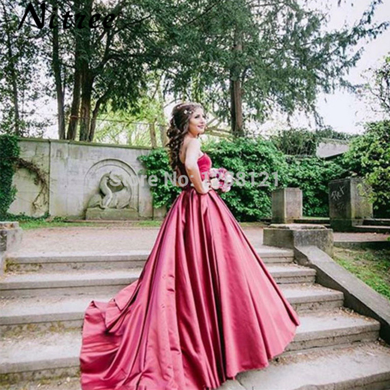 Kleider Lang Elegant Sweetheart Burgundy Velvet Evening Dress 2017 Simple  Arabic Islamic Ball Gowns Occasion Dresses Abiye Robe-in Evening Dresses  from ... 56c0b4c7f060
