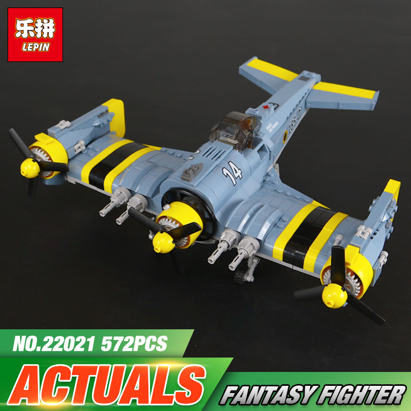 Lepin 22021 Technical Series The Beautiful Science Fiction Fighting Aircraft Set Building Blocks Bricks Funny Toys Model Gift the great science fiction