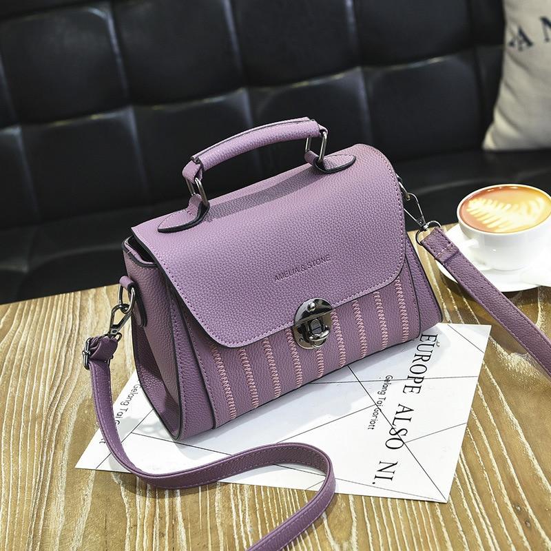 YINGPEI Brand Women PU leather Shoulder student Messenger Bag Top-Handle Women F