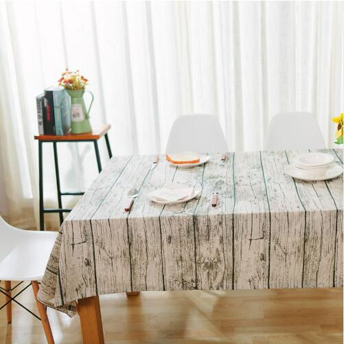 table cloth new linen retro home cover desk towels rectangle dust-proof wood grain Imitation bark modern tablecloth