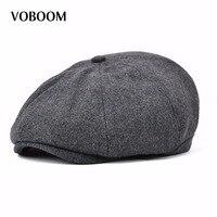 New Voboom Mens Gatsby Cap Hat Flat 8 Panel Mens Country Baker Boy Newsboy Cap