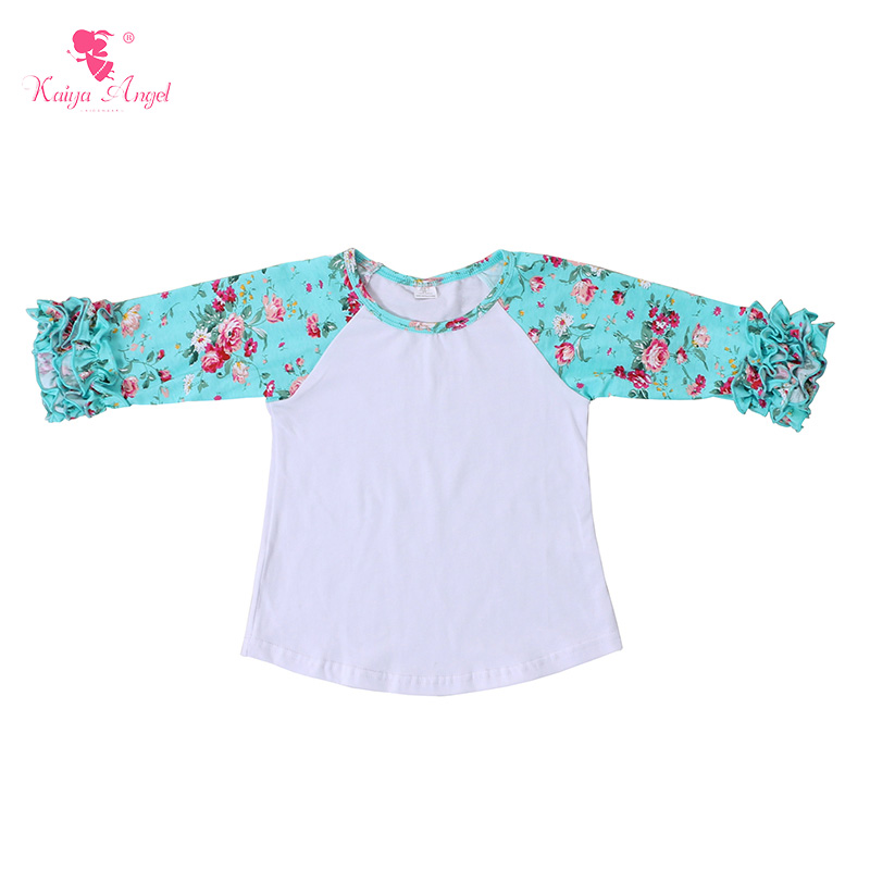 Carriage Boutique Little Girl Long Sleeve Blouse Ruffles