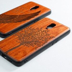 Image 4 - Чехол для Oneplus 6t, Boogic, оригинальный, из натурального дерева, чехол для Oneplus 6T из розового дерева, ТПУ, противоударный чехол накладка, чехол для телефона One plus 6T