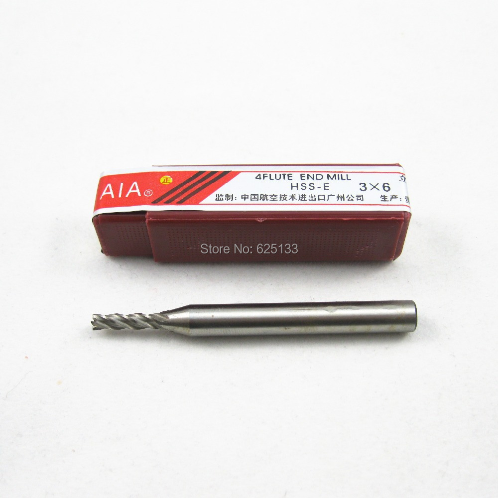 buy 3 6 milling cutter high speed steel 4 flute end mill for mini 6 in 1. Black Bedroom Furniture Sets. Home Design Ideas