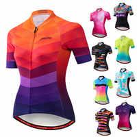 Weimostar 2019 femmes cyclisme Maillot à manches courtes course Sport vtt vélo Maillot cyclisme chemise Pro équipe vélo vêtements Maillot