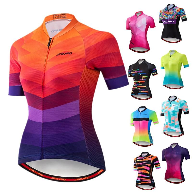 Weimostar 2019 mujeres ciclismo Jersey de manga corta carreras deporte MTB Bike Jersey ciclismo camisa Pro equipo bicicleta ropa Maillot