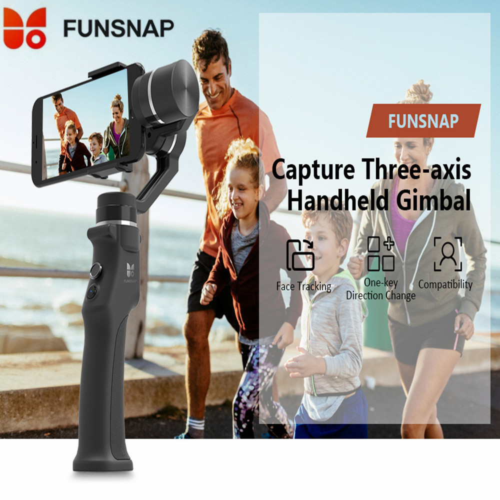 Funsnap Capture 3 Axis Handheld Gimbal Stabilizer For Smartphone GoPro 6 SJcam XiaoYi 4k Camera Not DJI OSMO 2 ZHIYUN FEIYUTECH стоимость