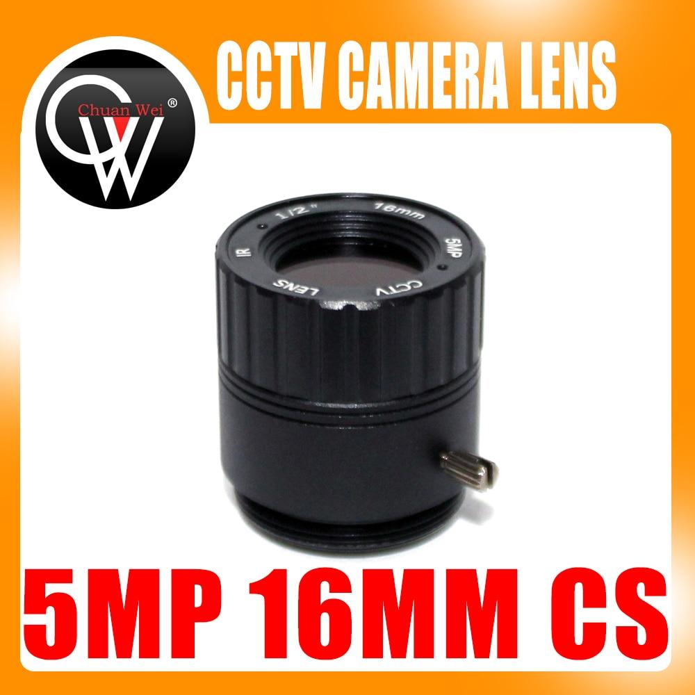 HD 5.0Megapixel IR CCTV Lens 16mm CS Lens 5MP for HD Security Cameras F2.0 Image Format 1/2 cameye hd cctv lens 5mp 8mm cs mount 1 2 5 f1 4 43 degree for security cctv cameras