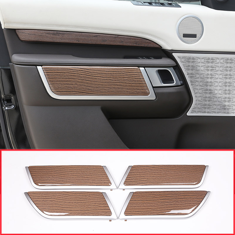 Пески древесины Стиль салона дверь украшения Панель чехол накладка для Land Rover Discovery 5 2017 Запчасти для авто автозапчасти