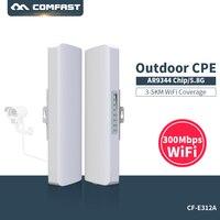 3 5km Comfast CF E312AV2 wireless AP Wireless bridge Long Range CPE 5.8G WIFI Signal Booster Amplifier Outdoor wifi repeater