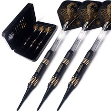 CUESOUL New Black Scorpion Deluxe  Soft Tip Darts Set -16 gram