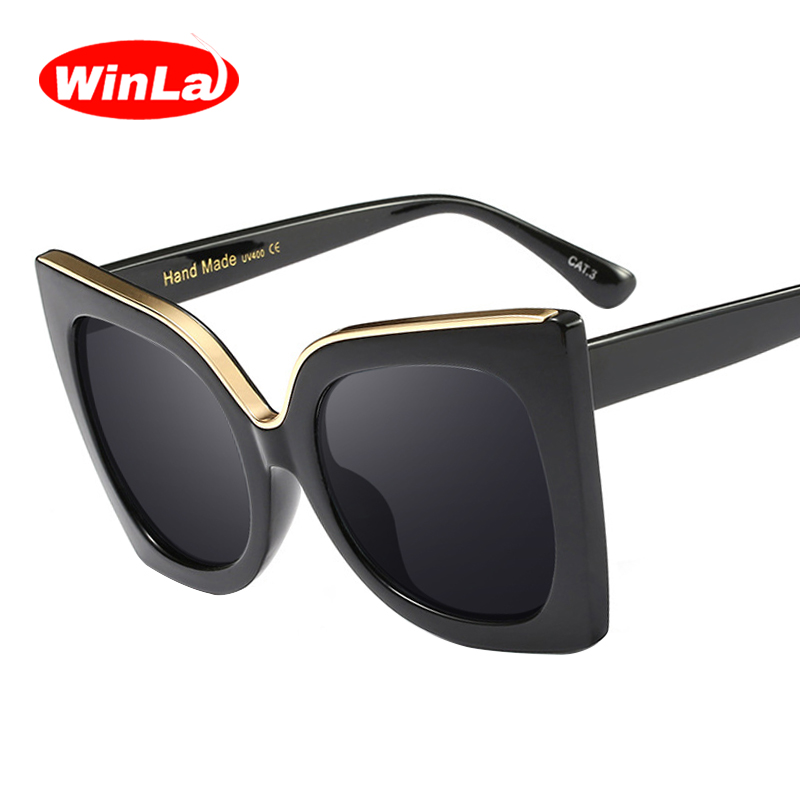 Winla Fashion Design Women's Vintage Cat Eye Sunglasses Female Gradient Lens Sunglasses Goggles Gafas Oculos de sol UV400 WL1101
