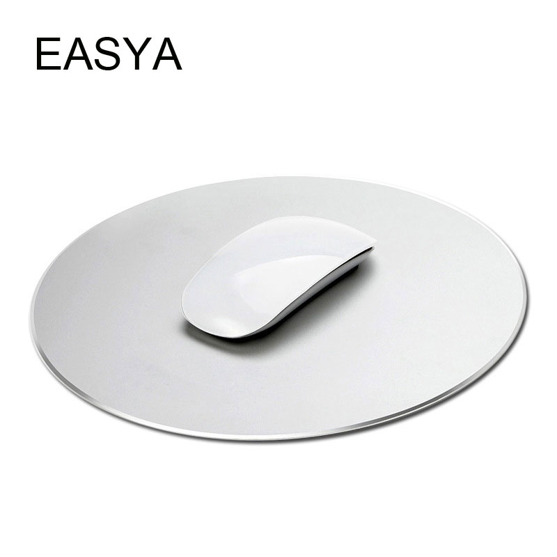EASYA Aluminum Alloy Metal Mouse Pad Gaming Mouse Mat Creative Silver for Computer PC Use