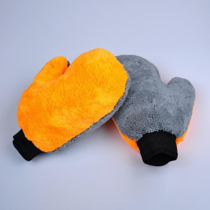 Multifunctionele Coral Fleece Fluwelen Auto Wassen Handschoen