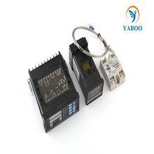 Цифровые регулируемый пид регулятор температуры панель термостат PC410 + REX-C100 + Max.40A сср реле + K термопары зонда