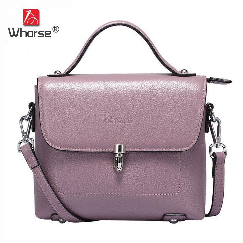 Popular Fashion Style Small Flap Bag Real Cowhide Ladies Genuine Leather Handbag Women Shoulder Messenger Bags For Girls W07530 new fashion women message bags with small purse metal ring handle leather handbag ladies girls trendy shoulder bag balestra