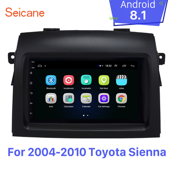 Seicane Android 8.1 2 Din Car Radio Head Unit For 2004-2010 Toyota Sienna GPS Navigation Player WIFI Support Backup Camera OBDII image