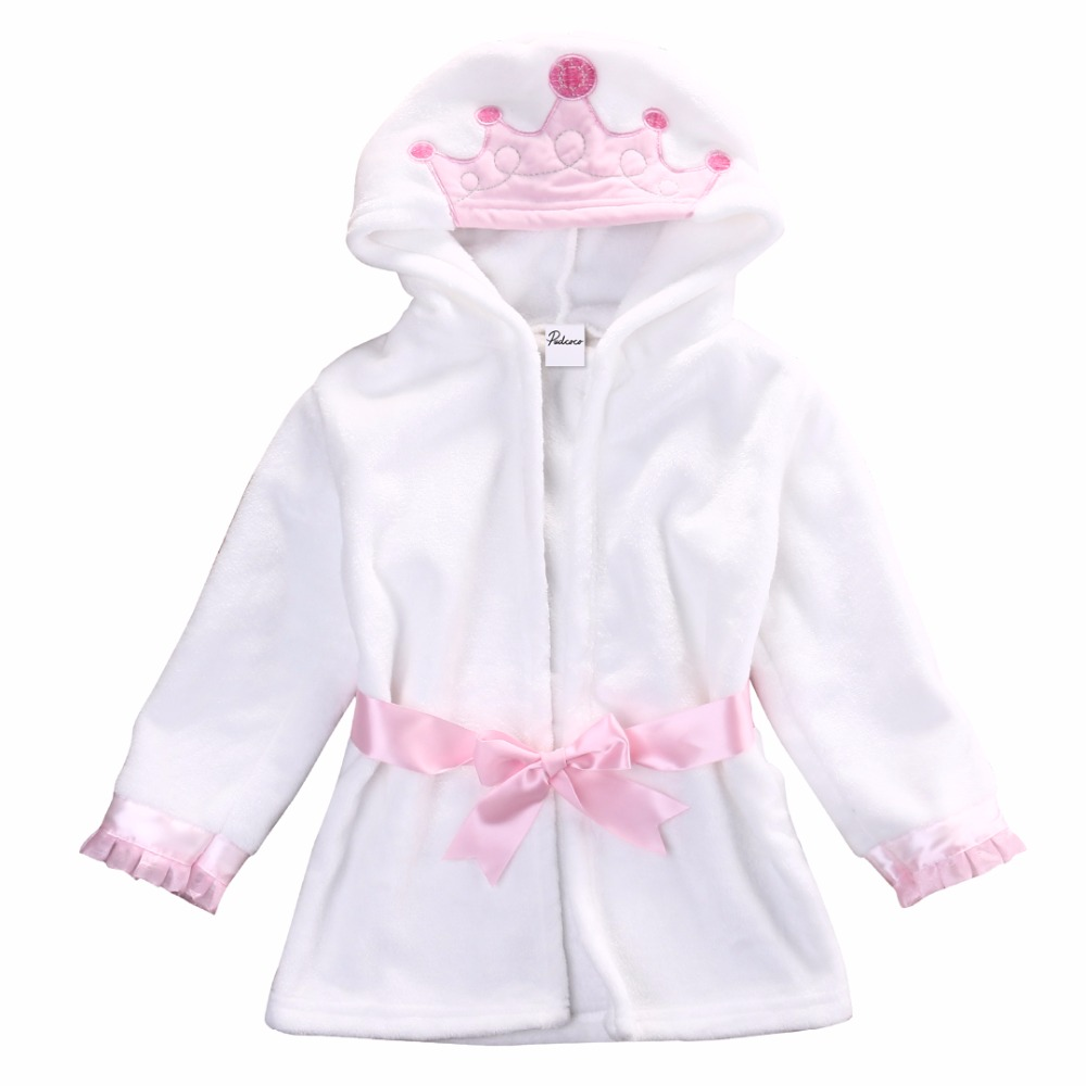 Boy Girl Animal Baby Bathrobe Baby Hooded Bath Towel Infant Bathing Honey Baby