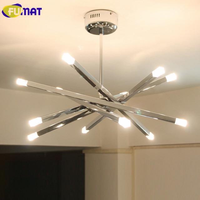 fumat moderne plafondlamp fixtures18w warm led woonkamer slaapkamer lamp verstelbare rvs ster plafond lampen