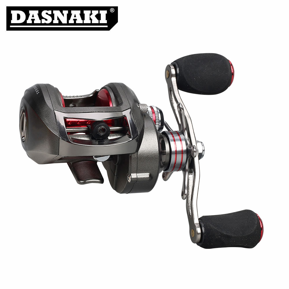 DASNAKI Bait Casting Fishing Reel 13+1 BB Solid main body Centrifugal & Magnetic brake Systems Right/Left BaitCasting Reels trolling reel 9 1bb drum wheel carp baitcasting reels centrifugal brake casting saltwater fishing reel super power drag 30kg