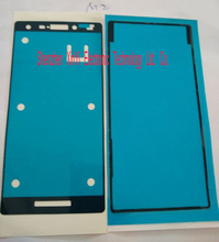 Wholesale 100set/lot(200pcs) New Front Housing Frame + Battery Back Door Adhesive Sticker for Sony Xperia M2 D2303 D2302