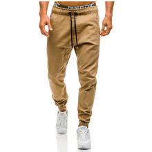 Großhandel Mode Herren Mann Jungen Casual Jogger Cargo Pants Schöne Seitentaschen Knöchel Krawatte Lange Hosen Slim Fit Gerades Bein Hosen Overalls