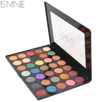 ISMINE Brand New 35 Color Powder Shimmer Eyeshadow Makeup Palette Glitter Makeup Set Make Up Cosmetics