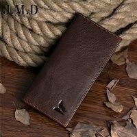 جديد وصول موضة جلد طبيعي طويل تصميم محفظة متعددة بطاقة بت محافظ الجودة الذئب يطبع محفظة freeshipping