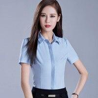 2017 New Fashion Temperament Women Shirt OL Summer Clothes Formal Short Sleeve Slim Chiffon Blouses Office