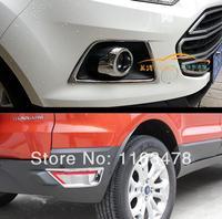 Para ford ecosport 2013 2014 2015 2016 abs chrome frente e traseira luz de nevoeiro lâmpada capa guarnição nova