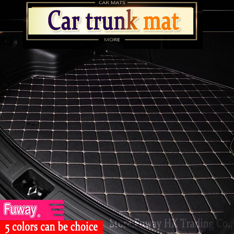 good quality fit car trunk mat for Audi A1 A4 A6 A7 A8 Q3 Q5 Q7 TT 3D car-styling heavy duty all weather tray carpet cargo liner custom fit car trunk mats formazda cx 5 2018 5 seats waterproof leather pet mat car styling all weather tray carpet cargo liner