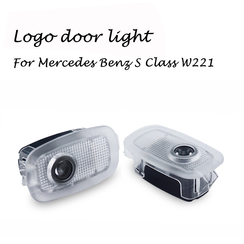 2X Car Led Logo Door Light For Mercedes Benz S W221 W447 C216 S250 S280 S300 S320 S350 S400 S420 S450 S500 Laser Projector Light