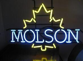 MOLSON Glass Neon Light Sign Beer Bar