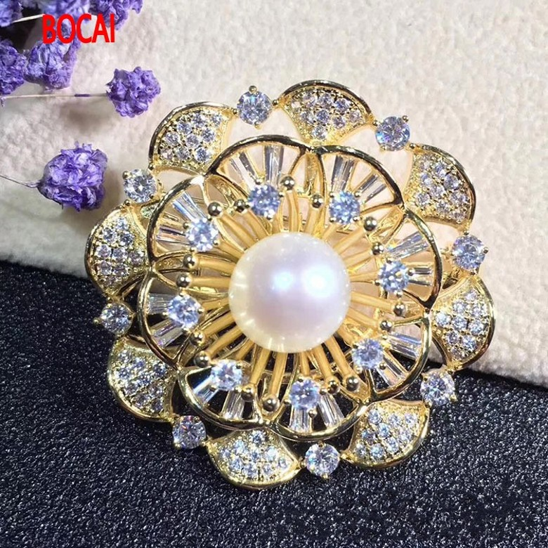 Winter coat accessories freshwater pearl brooch brooch wind palace retro elegant gift elegant faux pearl embellished brooch for women
