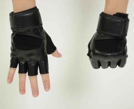 Весенние и летние мужские Спортивные Перчатки для фитнеса, черные и белые противоскользящие Тактические Перчатки для фитнеса - Цвет: black