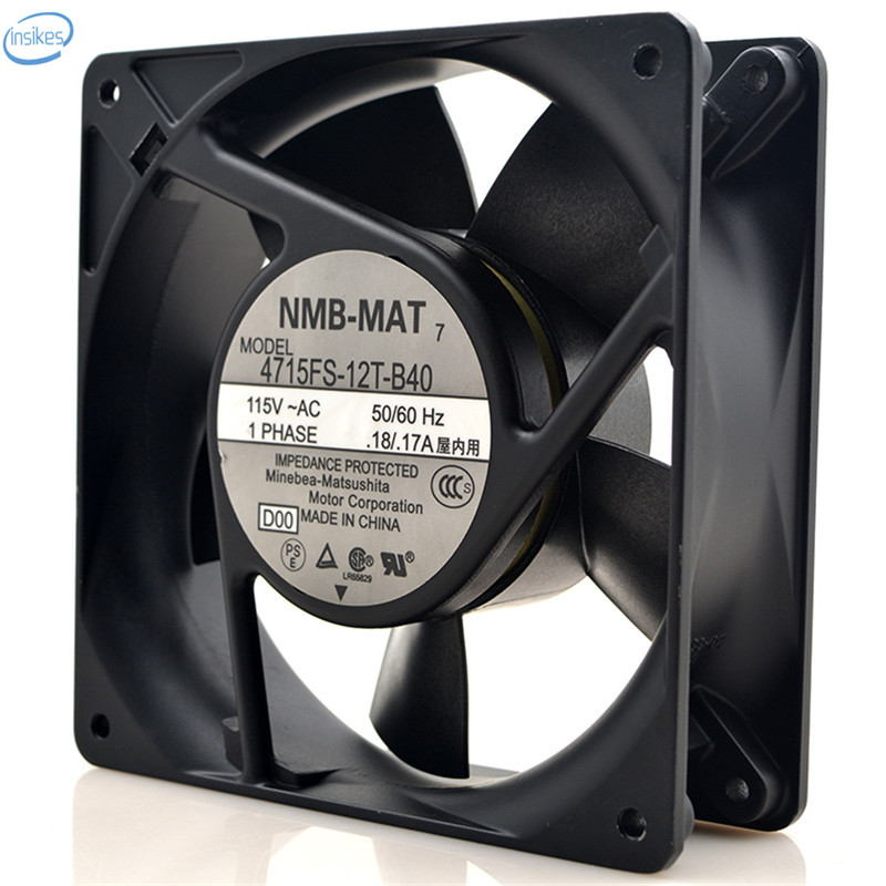 Original 4715FS-12T-B40 Computer Blower Cooling Axial Fan AC 115V 0.17A 17/18W 12038 120*120*38mm 2800RPM 50/60HZ medium computer cpu plastic cooling fan leaves card blower heat sink
