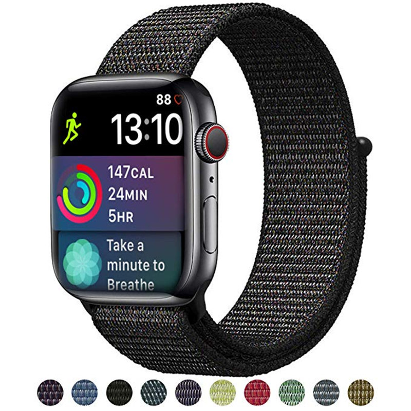 Nylon Sport Loop Strap Bands For Apple Watch 5 4 Band 44mm 42mm 40mm 38m Strap For Iwatch Series 5/4/3/2/1 Watchbands