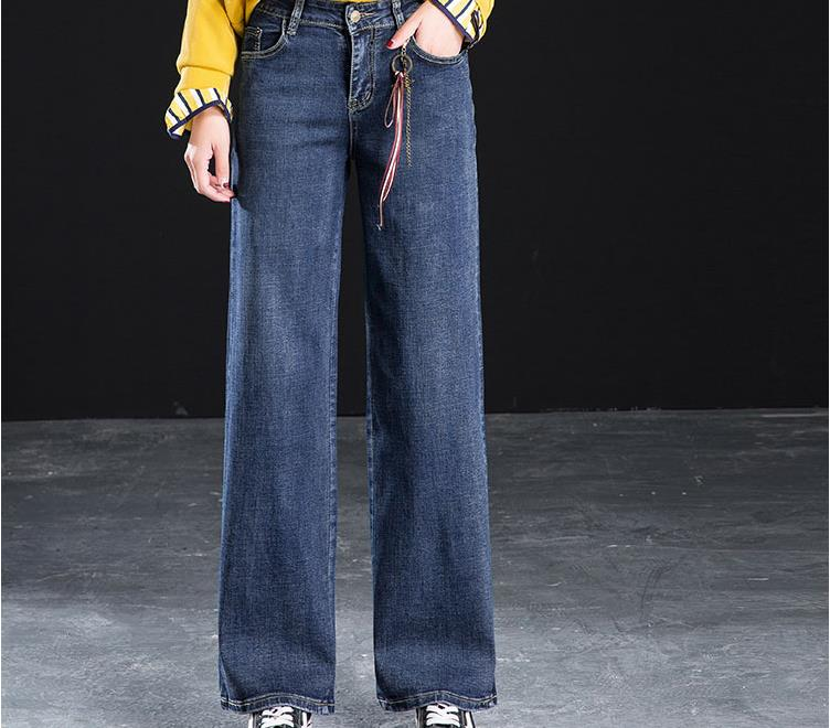 Women's wide leg   jeans   spring and autumn new 2018 large size trousers