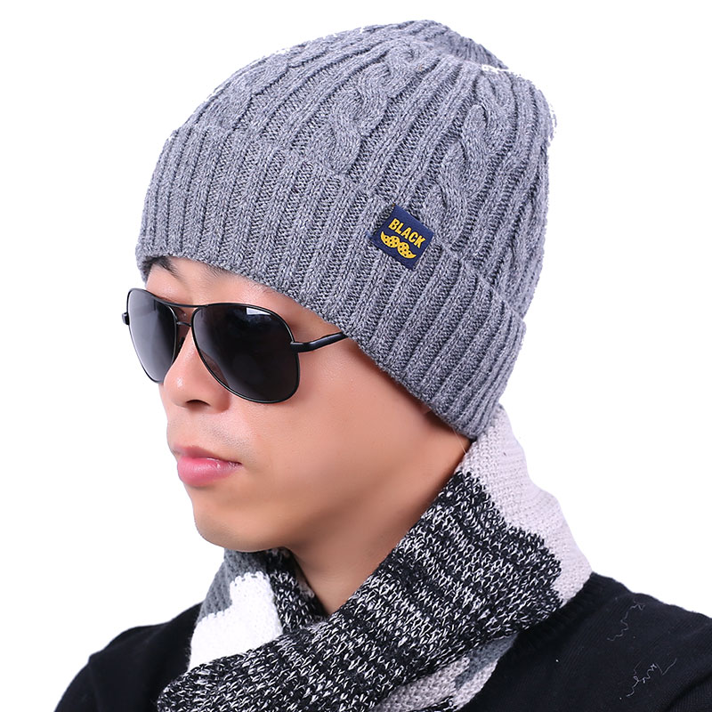 2016 New Adult Skullies Bonnet Winter Hat For Men Wool Knitted Hats Beanies Cap Brand Beanie Fur Warm Baggy Thick Male Caps skullies