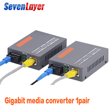 Гигабитный волоконно-оптический медиаконвертер HTB-GS-03 A& B 1000 Мбит/с одномодовый одиночный оптоволоконный SC порт внешний источник питания 3 пары