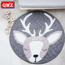 NEW Play Mat Round Elk Rabbit Fox Koala Crawling Blanket Infant Game Pad Play Rug Floor Carpet Baby Gym Activity INS Room Decor(China)