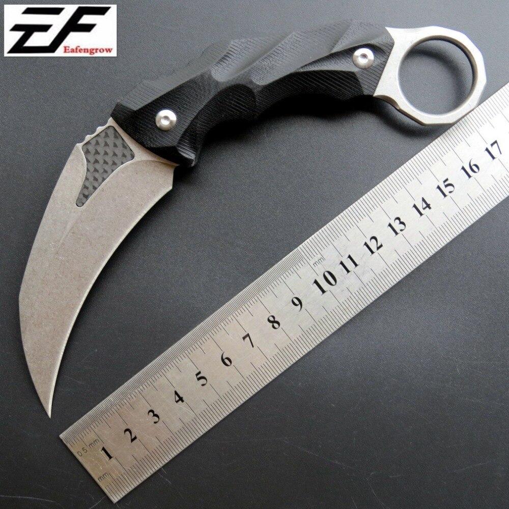 Eafengrow C1692 sauvetage de survie en plein air Karambit CS aller contre-grève couteau utilitaire chasse tactique auto-défense couteaux de poche