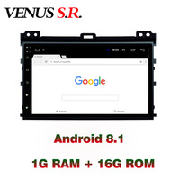 VenusSR Android 8.1 2.5D car dvd for Toyota Land Cruiser Prado 120 Radio 20002 2009 multimedia Radio stereo gps navigation