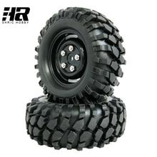 4pcs lot 1 9 Tires 96mm Wheel 12mm Hex Hub For RC 1 10 Rock Climbing