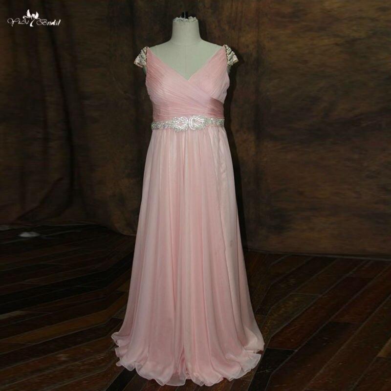 RSE256 большой размер, для беременных женщин платье с коротким цельнокроеным рукавом длинный шифон Страна Стиль персикового цвета вечернее пл...