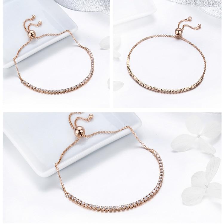 HTB1mFM5dzgy uJjSZKzq6z jXXaU BAMOER Featured Brand DEALS 925 Sterling Silver Sparkling Strand Bracelet Women Link Tennis Bracelet Silver Jewelry SCB029
