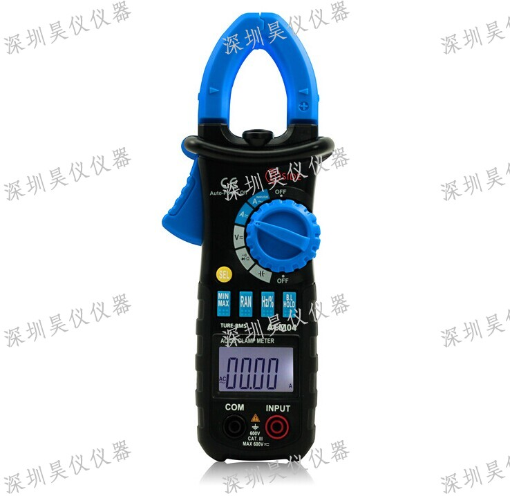 Bside ACM04 Auto Range 600A True RMS AC/DC Mini Digital Clamp Meter Multimeter Capacitance Frequency Inrush Current Test acm04 professional handheld auto range digital clamp multimeter capacitance frequency testing with backlight and front light