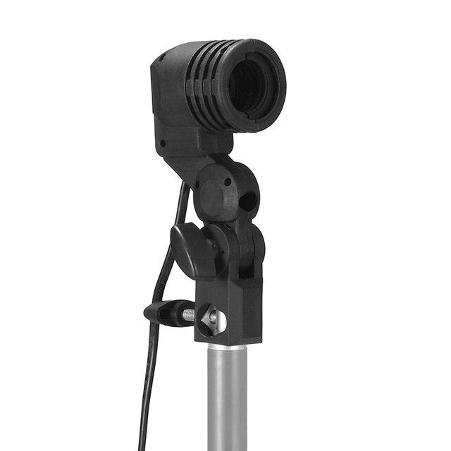 Single Head Bulb Holder E27 Socket Flash Umbrella Bracket Photo Lighting Bulb Holder For Photography Studio Accessories