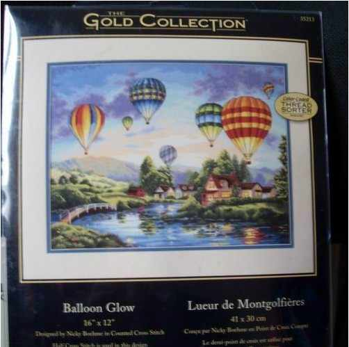 top Quality lovely counted cross stitch kit balloon glow balloons dim 35213
